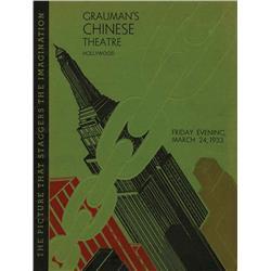 Graumann's Chinese Theater 1933 King Kong premiere program