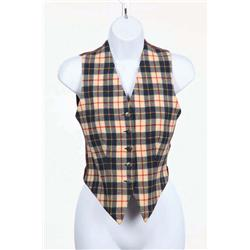 Carole Lombard plaid vest from I Take this Woman
