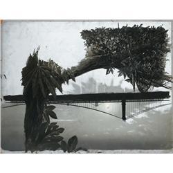 Bridge and jungle scene matte painting