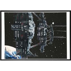 Aliens gateway station matte painting
