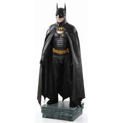 "Michael Keaton hero ""Batman"" costume and display from Batman Returns"
