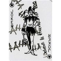 "Heath Ledger ""Joker"" playing card from The Dark Knight"