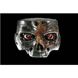 """Screen-used """"close-up"""" T-800 Terminator endo eyes in skull assembly from Terminator 2: Judgment Day"""