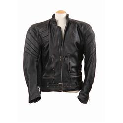 """Screen-used stunt """"T-850 Terminator"""" leather jacket from Terminator 3: Rise of the Machines"""