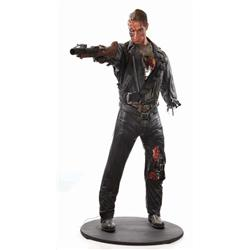 Screen-used Terminator T-800 complete costume and display from Terminator 2: Judgment Day