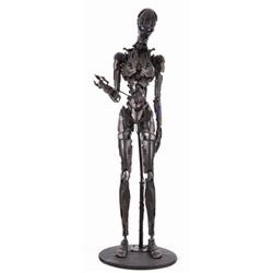 """Screen-used full-scale T-X """"Terminatrix"""" endoskeleton from Terminator 3: Rise of the Machines"""