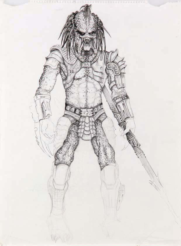 Predator Full Body Drawing From Predator