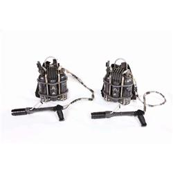 Two sets of NEST Team man-portable backpack flamethrowers from Transformers: Revenge of the Fallen