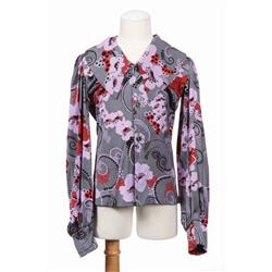 Michael Jackson stage-worn Boyd Clopton design stylized cherry blossom floral shirt from 1971