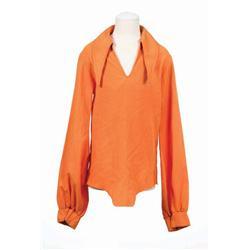 Michael Jackson stage-worn International Costume Company orange shirt 1972