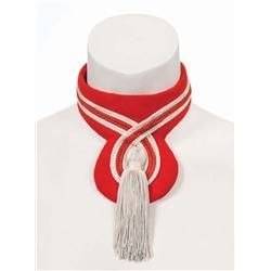 Michael Jackson stage-worn red & white tasseled choker