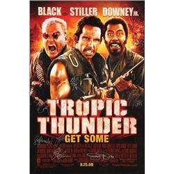 Tropic Thunder signed one-sheet poster