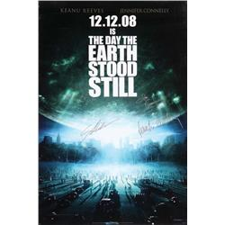 The Day the Earth Stood Still signed one-sheet poster