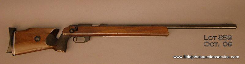 """ANSCHUTZ Model 1913 Super Match rifle, # 289684,  22 cal , 27"""" bull barrel,  target style stock with"""