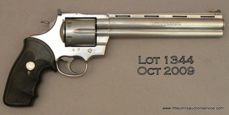"Colt Anaconda DA revolver,  44 Magnum cal , 8"" ventilated rib barrel,  stainless steel, combat Colt"