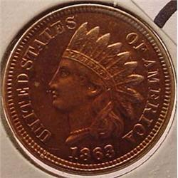 1863 INDIAN HEAD CENT / PENNY