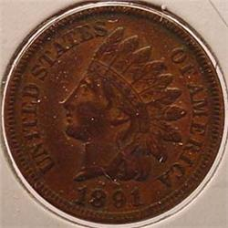 1891 INDIAN HEAD CENT / PENNY