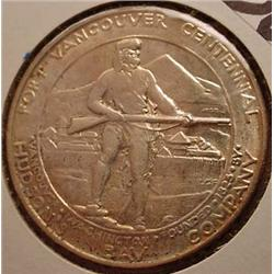 1925 FORT VANCOUVER COMMEMORATIVE HALF DOLLAR