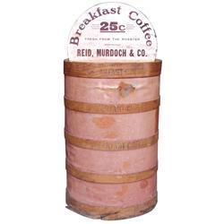 Reid, Murdoch & Co. bulk coffee bin w/hinged display lid for Breakfast Coffee 25 Cents, Good orig co