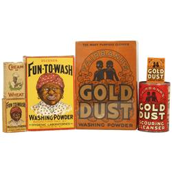 Black Americana Gold Dust Washing Powder, Gold Dust Sample box, Gold Dust Scouring Cleanser, Fun-To-