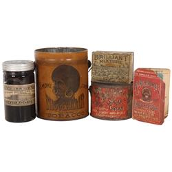 Black Americana, Nigger Hair Smoking Tobacco pail, VG w/no lid, Brilliant Mixture Tobacco tin by Wei