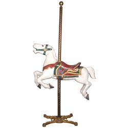 Carousel horse, Herschell Spillman painted cast aluminum jumper from the Balboa Fun Zone at Newport