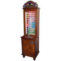 Coin-operated arcade game, Love Tester, mfgd by Exhibit Supply Co., 10 Cent,  Measure Your Sex Appea