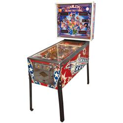 Coin-operated pinball machine, Bally Harlem Globetrotters on Tour, VG working, 70 H x 30 W x 53 L.