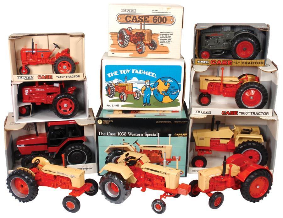 "Farm toys (9), Ertl Case ""800"" tractor #3101, Ertl Special ..."