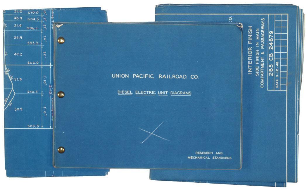 Union Pacific Railroad Co  Blueprints Of Diesel Electric Unit Diagrams  Proposed 8500 Hp Gas Turbine