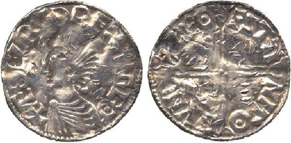 COINS  ANGLO-SAXON COINS  Æthelred II, Penny, long