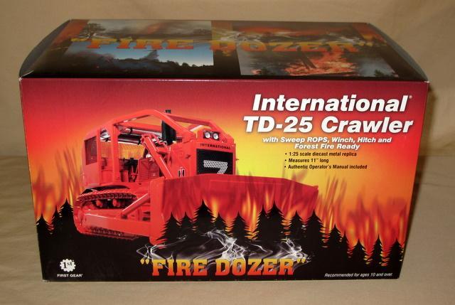 1st Gear Fire Dozer IH TD-25 Crawler w/ Sweep ROPS, Winch