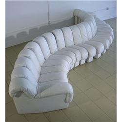 """A Ueli Berger, Eleanora Peduzzi-Riva, Heinz Ulrich """"Non-Stop Sofa"""", by DeSede, Imported from Switzer"""