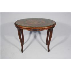 A French Provincial Style Fruitwood Marquetry Side Table.
