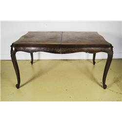 A 20th Century French Provincial Style Carved Walnut Dining Table,