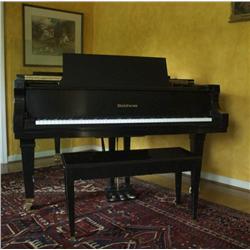 A Baldwin 7ft. Semi Concert Grand Piano, In Black Satin Ebony Finish,