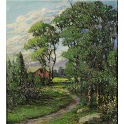 Artist Unknown (20th Century) Landscape, Oil on board,
