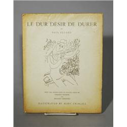 Le Dur Desir De Durer by Paul Eluard, Illustrated by Marc Chagall,