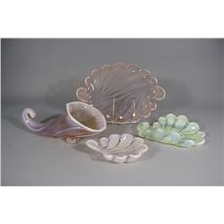 A Collection of Duncan Miller Opaline Art Glass.