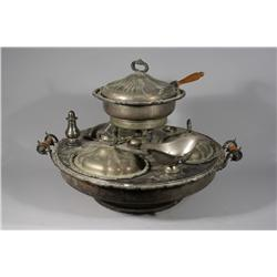 A Victorian Silver Plated Lazy Susan.