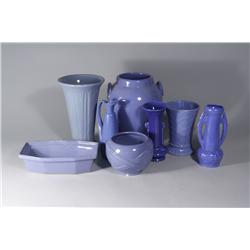 A Collection of Miscellaneous Blue Ceramic Decorative Vases.