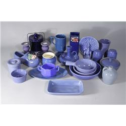 A Collection of Miscellaneous Blue Ceramic Decorative Items,