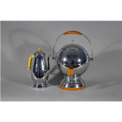 Two Deco Chrome Coffee Pots.