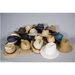 A Collection of Vintage Woven Hats.