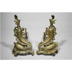 A Pair of Louis XV Style Chenets.