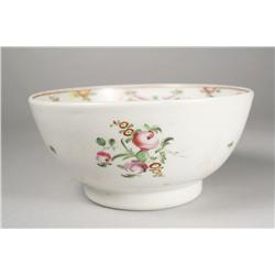 A Chinese Export Famille Rose Footed Porcelain Bowl, Low Quality Painted Decoration,