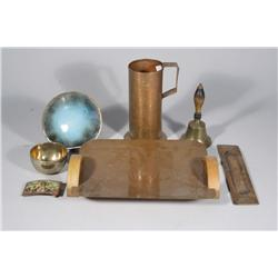 A Group of Copper Decorative Items,