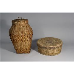 Two Native American Baskets.