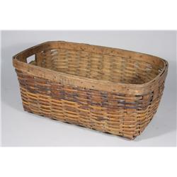 An Appalachian Oak Splint Woven Open Basket.