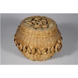 An American Indian Woven Lidded Basket.